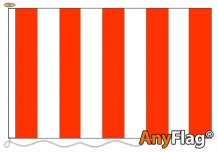 RED AND WHITE STRIPED  ANYFLAG RANGE - VARIOUS SIZES